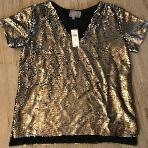 NWT Anthropologie sequin top